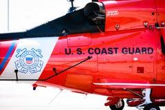 海岸警卫队直升机我们 免版税库存照片