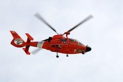 海岸警卫队直升机 库存照片