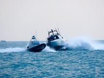 海岸警卫飞行表演 Tirrenia,比萨,意大利, 2016年9月11日 免版税图库摄影