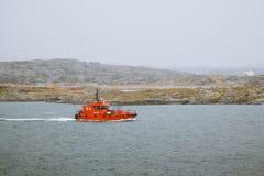 海岸警备队小船 库存图片