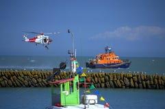 海岸警备队急救工作显示英国 免版税库存图片