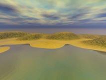 海岸金黄沙子 向量例证