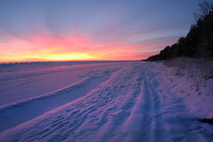 海岸雪 库存照片