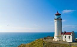 海岸顶头灯塔北部俄勒冈 免版税图库摄影