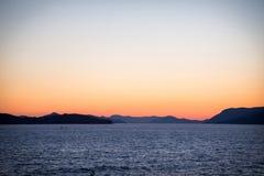 海岸风景在达尔马提亚,克罗地亚 免版税库存照片