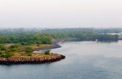 海岸风景puerto的格查尔 免版税库存照片