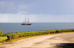 海岸风船 库存照片