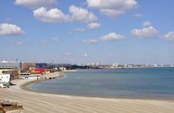 海岸高尔夫球海运 库存照片