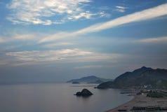 海岸黎明富查伊拉 免版税图库摄影