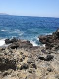 海岸,尼西罗斯岛 库存图片