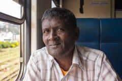 海岸,斯里兰卡- 03,02,2015 :铁路,铁路 库存照片