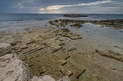 海岸,是Aruttas,撒丁岛 库存图片