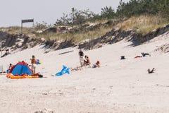 海岸,波罗的海Å  eba 免版税库存照片