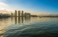海岸,码头,修造 免版税库存图片