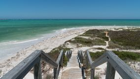 海岸,西万提斯,西澳州 免版税库存图片