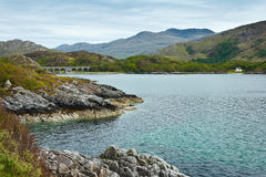 海岸绿松石水高地苏格兰 库存图片