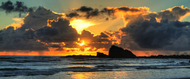 海岸currumbin金岩石 库存照片