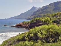 海岸de mallorca palma西班牙 库存照片