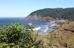 海岸ecola海洋俄勒冈和平的公园状态 免版税库存照片