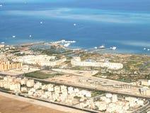 海岸el平面sharm回教族长查阅 库存图片