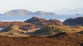 海岸hebrides苏格兰视图 图库摄影