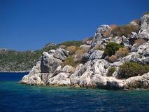 海岸kekovo零件岩石tw 库存图片