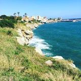 海岸Mondello (西西里岛) 库存照片