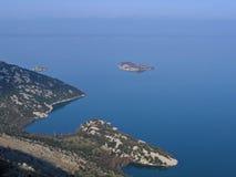 海岸montenegro 库存图片