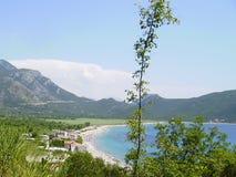 海岸montenegro 免版税库存图片