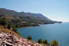 海岸montenegro 免版税库存照片