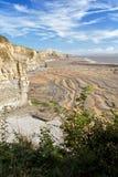 海岸southerndown威尔士 库存照片