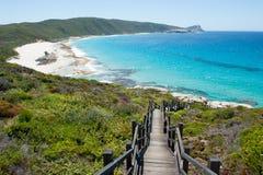 海岸Torndirrup国家公园阿尔巴尼澳大利亚 库存照片