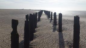 海岸Wather和沙子 库存照片