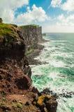 海峭壁在奥克尼,苏格兰,英国 免版税图库摄影