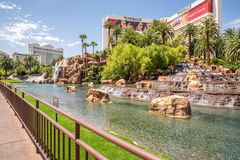 海市蜃楼旅馆和赌博娱乐场 库存图片