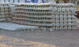 海底的技术支持的具体块或床垫 库存照片