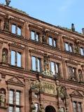 海得尔堡城堡内在墙壁 库存照片