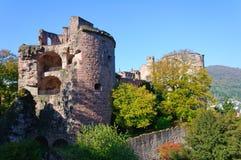 海得尔堡城堡在德国 库存图片