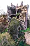 海得尔堡城堡废墟塔在海得尔堡 免版税库存照片