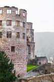 海得尔堡城堡废墟塔在海得尔堡 库存图片