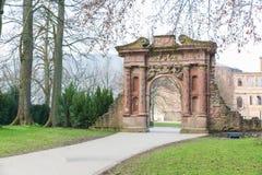 海得尔堡城堡废墟门在海得尔堡 免版税库存图片