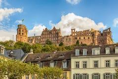 海得尔堡城堡废墟 免版税库存图片
