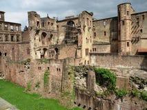海得尔堡城堡废墟 免版税图库摄影