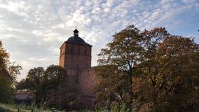 海得尔堡城堡或海德尔伯格schloss,德国废墟  免版税库存照片