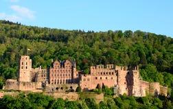 海得尔堡城堡春天 免版税库存照片