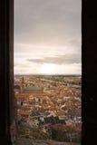 海得尔堡城堡窗口  图库摄影
