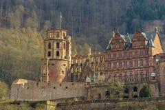 海得尔堡城堡,亚丁乌特姆博格,德国 库存图片