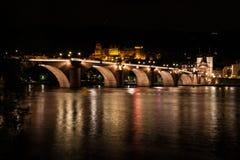 海得尔堡老桥梁 图库摄影
