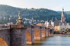 海得尔堡老桥梁 库存照片