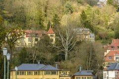 海得尔堡都市风景,德国 免版税库存照片